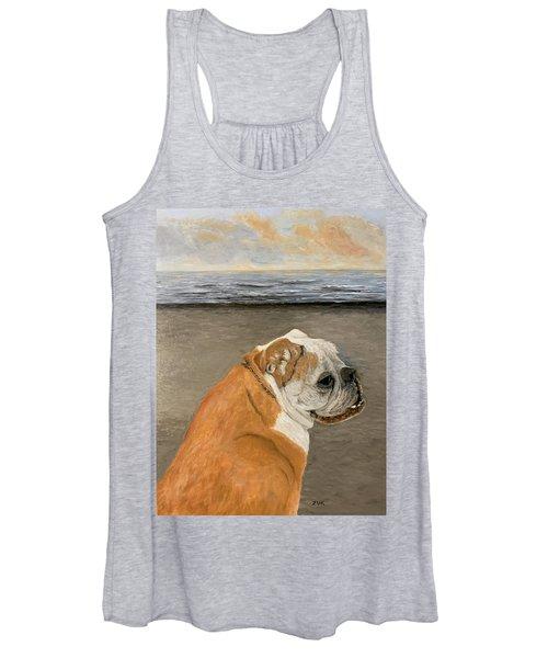 Bulldog  On The Beach Women's Tank Top