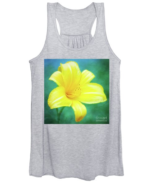 Buttered Popcorn Daylily In Her Glory Women's Tank Top