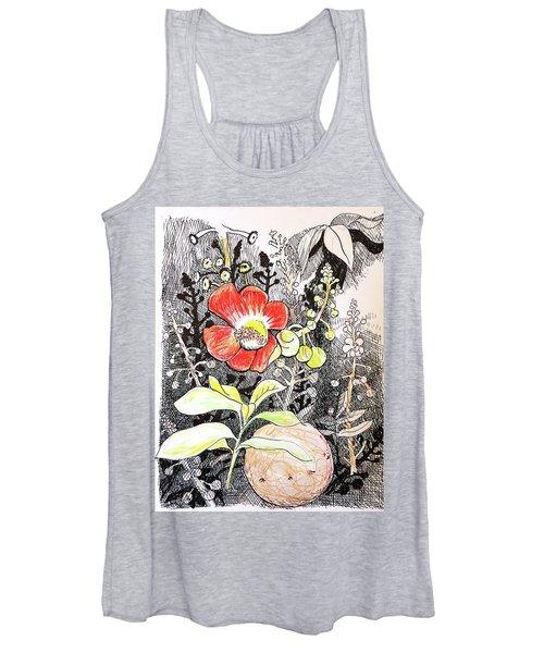 Cannonball Flower Botanical Women's Tank Top