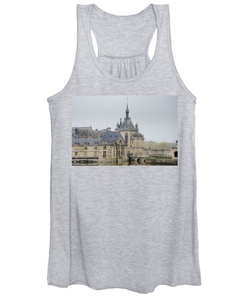 Women's Tank Top featuring the photograph Chateau De Chantilly, Paris France by Perry Rodriguez