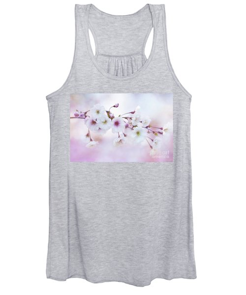 Cherry Blossoms In Pastel Pink Women's Tank Top