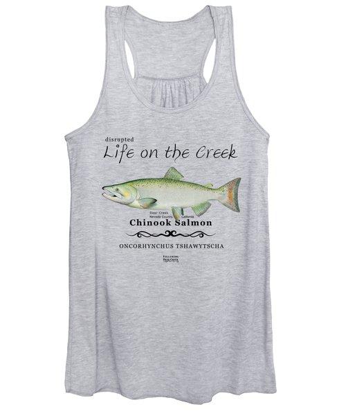 Chinook Salmon Disrupted Women's Tank Top