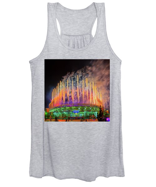 Cleveland Baseball Fireworks Awesome Women's Tank Top
