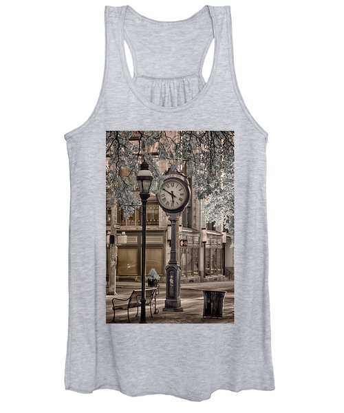 Clock On Street Women's Tank Top