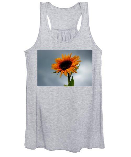 Cloudy Sunflower Women's Tank Top