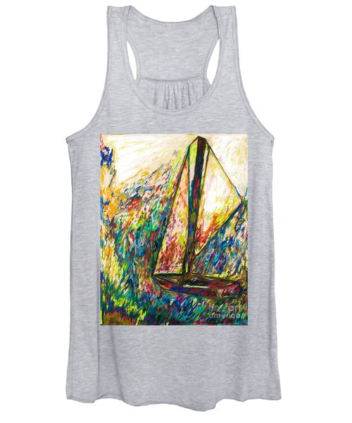 Colorful Day On The Water Women's Tank Top