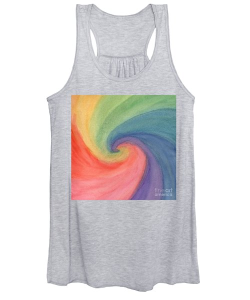 Women's Tank Top featuring the painting Colorful Wave by Irina Dobrotsvet
