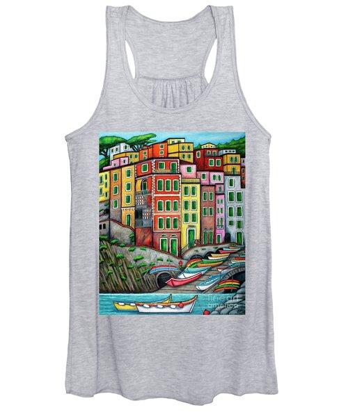 Colours Of Riomaggiore Cinque Terre Women's Tank Top