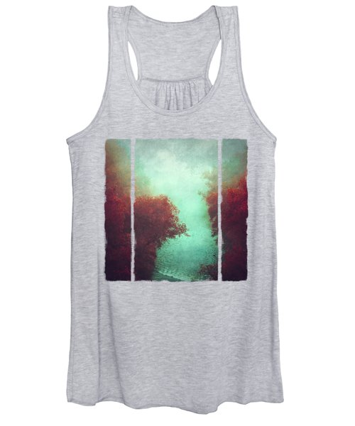Copper Trees And River  In Mist Women's Tank Top