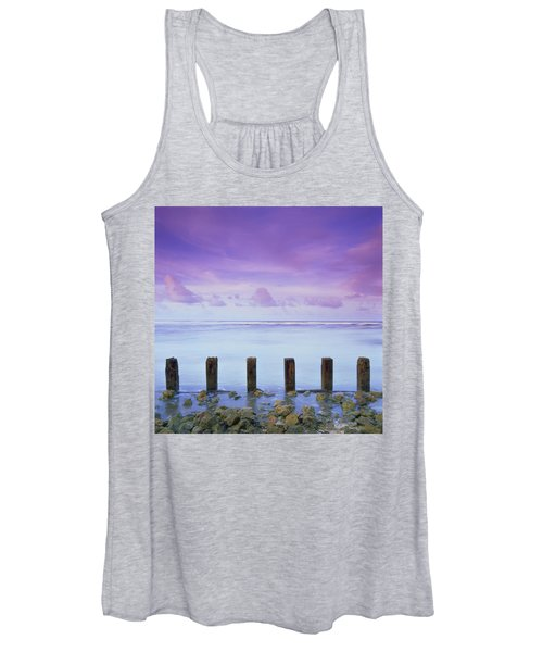 Cotton Candy Skies Over The Sea Women's Tank Top