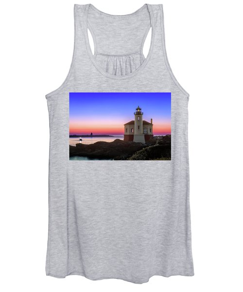 Crab Boat At The Bandon Lighthouse Women's Tank Top