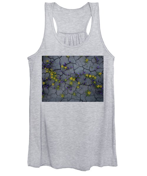 Cracked Blossoms Women's Tank Top