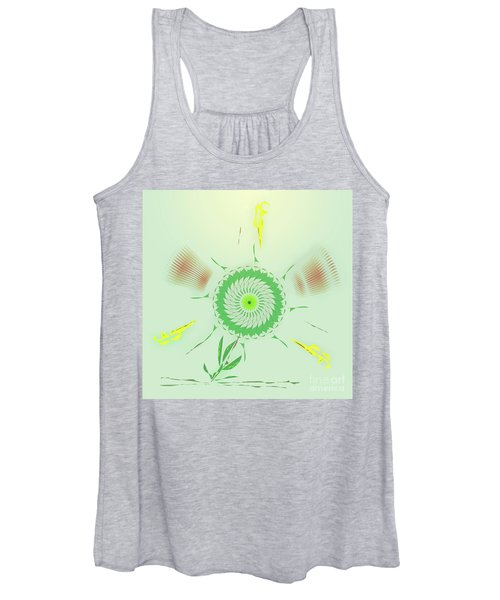 Crazy Spinning Flower Women's Tank Top