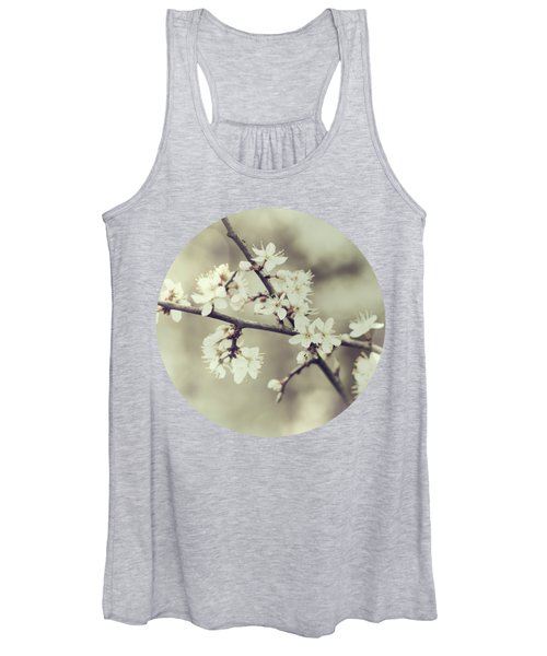 Crossed Blossoms Women's Tank Top
