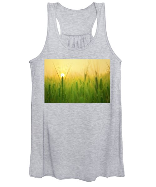 Dawn At The Wheat Field Women's Tank Top