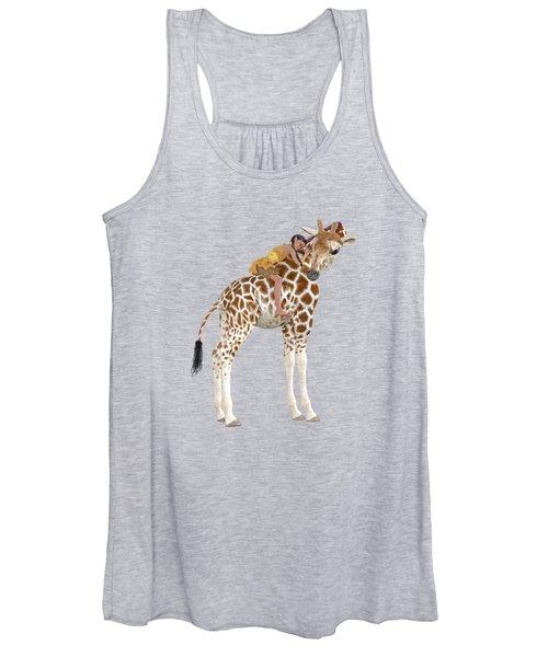 Daydreaming Of Giraffes Png Women's Tank Top