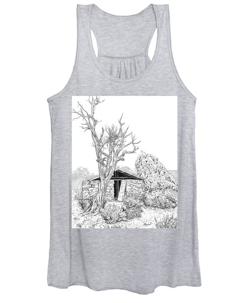Decay Of Calamity The Half Life Of A Dream Black And White  Women's Tank Top