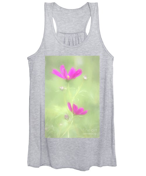 Delicate Painted Cosmos Women's Tank Top