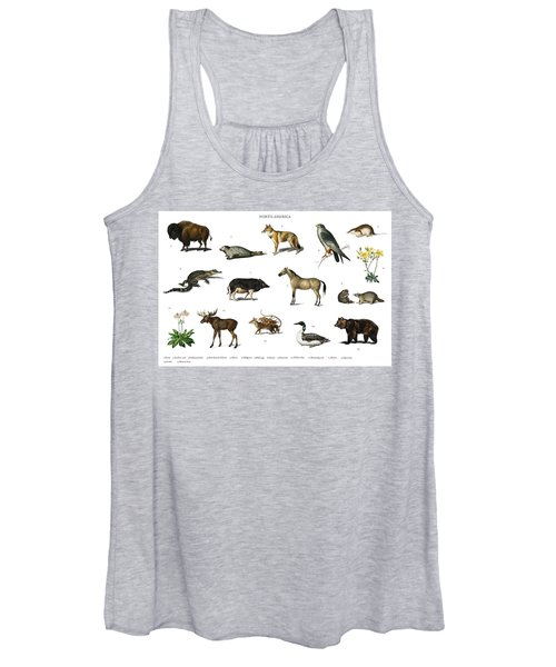 Different Types Of Animals Illustrated By Charles Dessalines D' Orbigny  1806-1876  Women's Tank Top