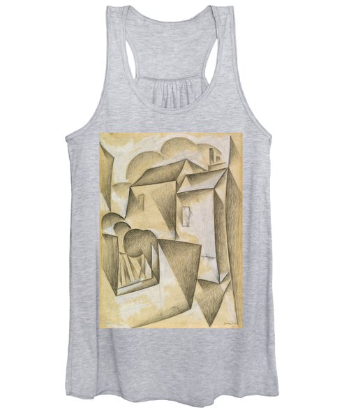 Digital Remastered Edition - Houses In Paris, Place Ravignan Women's Tank Top