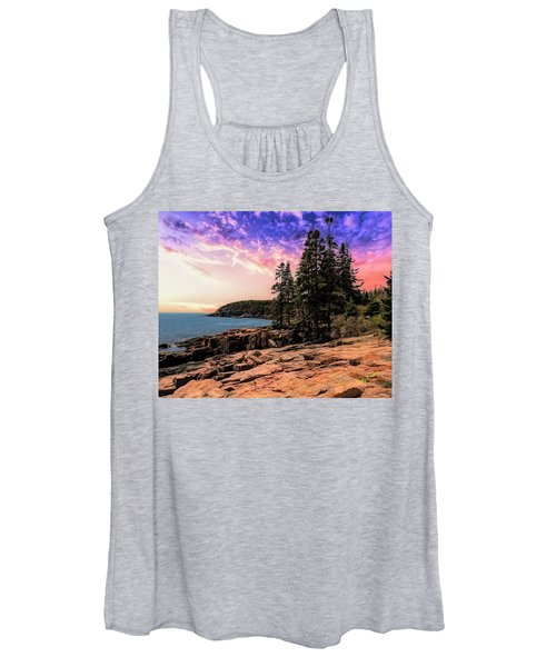 Distant View Of Otter Cliffs,acadia National Park,maine. Women's Tank Top