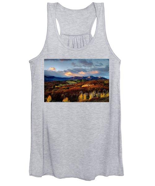 Dramatic Sunrise In The San Juan Mountains Of Colorado Women's Tank Top