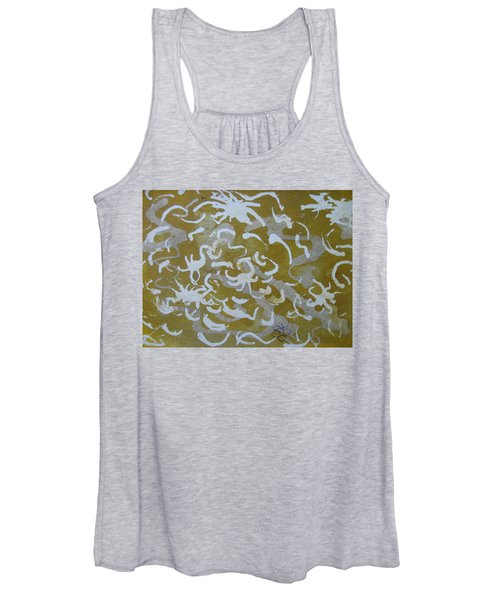 Dull Yellow With Masking Fluid Women's Tank Top