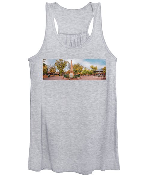 Early Morning Panorama Of Santa Fe Plaza - New Mexico Land Of Enchantment Women's Tank Top