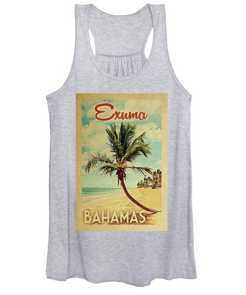 Exuma Bahamas Palm Tree Women's Tank Top