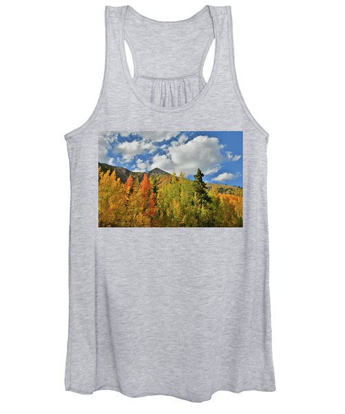 Fall Colored Aspens Bask In Sun At Red Mountain Pass Women's Tank Top