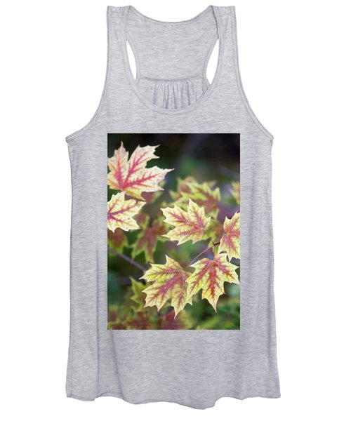 Fall Red And Yellow Leaves 10081501 Women's Tank Top