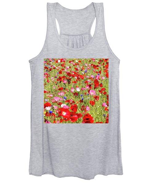 Field Of Red Poppies Women's Tank Top