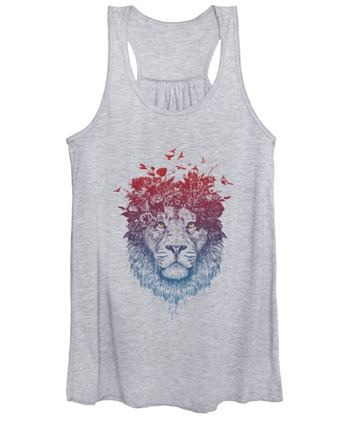 Floral Lion IIi Women's Tank Top