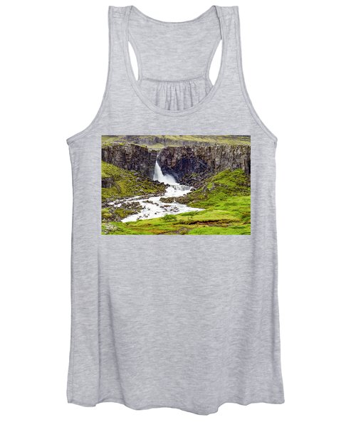Women's Tank Top featuring the photograph Folaldafoss by Marla Craven