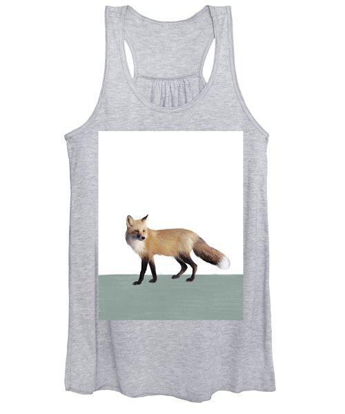 Fox On Sage Women's Tank Top