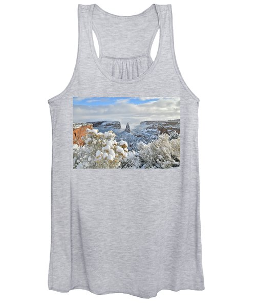 Fresh Snow At Independence Canyon Women's Tank Top