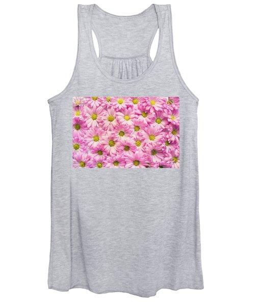 Full Of Pink Flowers Women's Tank Top