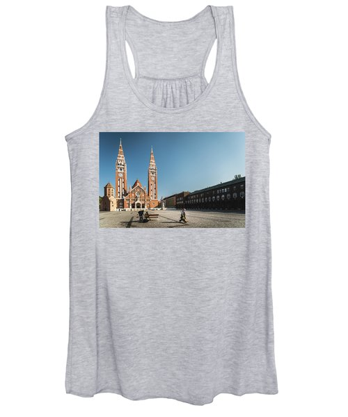 Garbage Cleaners On Dom Square In Szeged  Women's Tank Top