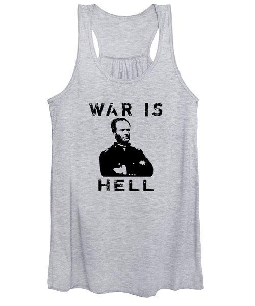 General Sherman Graphic - War Is Hell Women's Tank Top