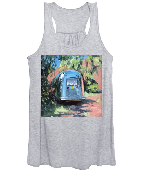 Glamping In Dappled Light Women's Tank Top