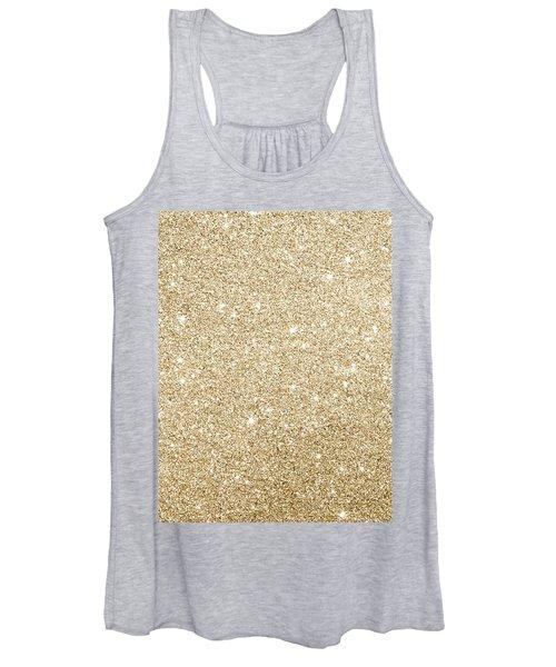 Gold Glitter Women's Tank Top