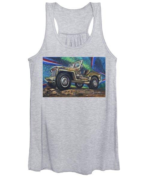 Grandpa Willie's Willys Jeep Women's Tank Top