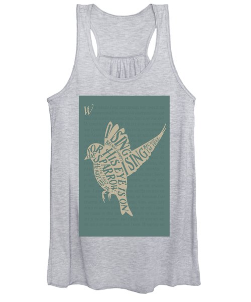 His Eye Is On The Sparrow Women's Tank Top