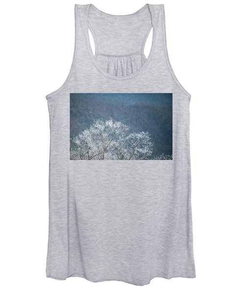 Hoarfrost Collects On Branches Women's Tank Top