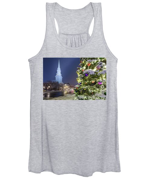 Holiday Snow, Market Square Women's Tank Top
