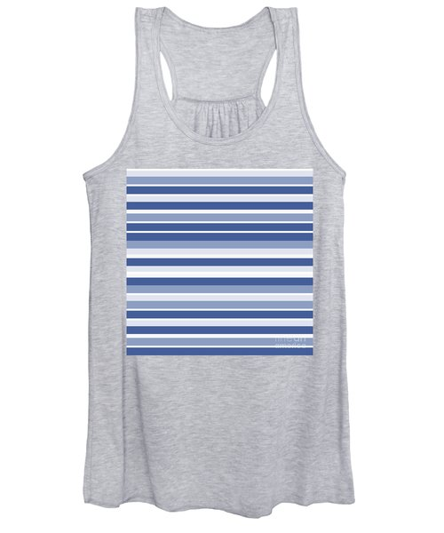 Horizontal Lines Background - Dde607 Women's Tank Top