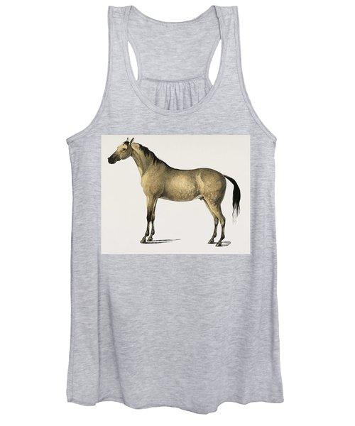 Horse  Equus Ferus Caballus Illustrated By Charles Dessalines D' Orbigny  1806-1876 2 Women's Tank Top