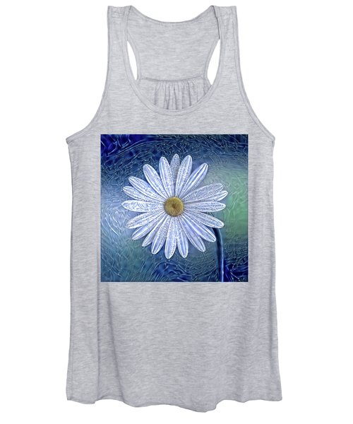 Ice Daisy Flower Women's Tank Top
