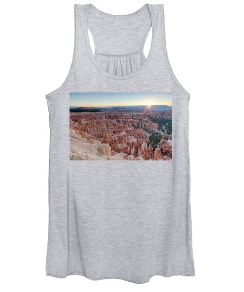 Inspiration Point Sunrise Bryce Canyon National Park Summer Solstice Women's Tank Top