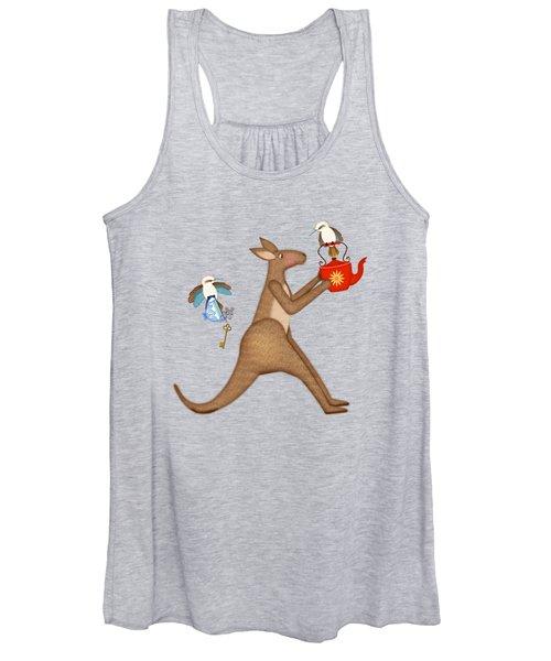 K Is For Kangaroo And Kookaburra Women's Tank Top